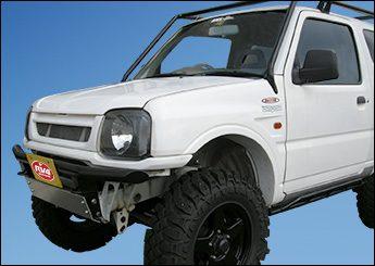 比較写真 JB23 エボリューションボンネット装着車